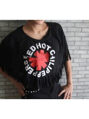 Red Hot Chili Peppers Hipster Gypsy Fringe Poncho Scarf Bikini Cover