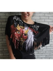 Iron Maiden Hipster Gypsy Fringe Poncho Scarf Bikini Cover