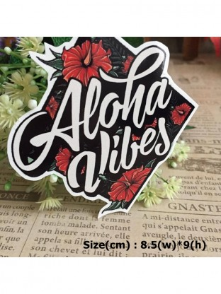 Aloha Vibes Hipster Waterproof Die Cut Decal Vinyl Sticker