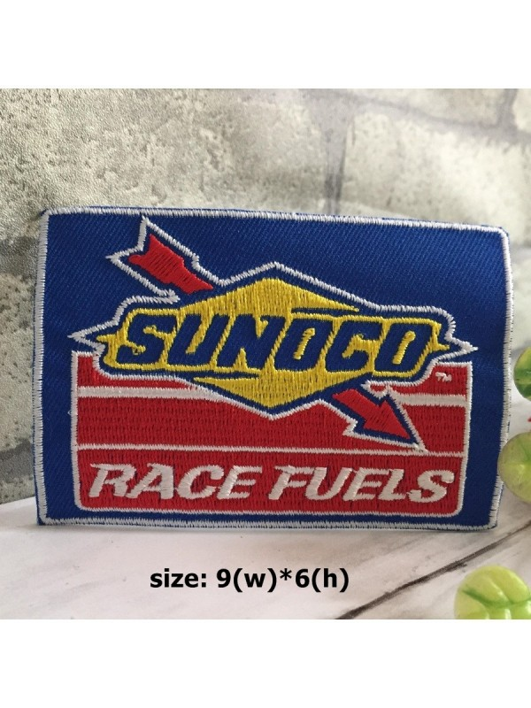 sunoco01| Sunoco Race Fuels Embroidered Iron on Sew on Patch