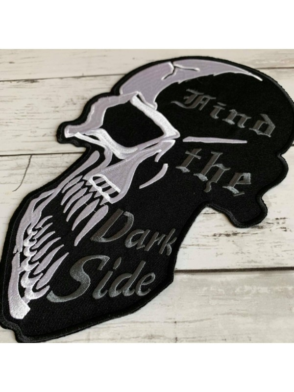 Find The Dark Side Skull Embroidered Big Back Patch