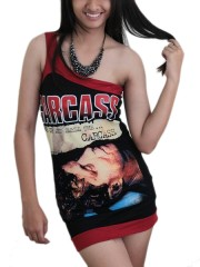 Carcass Metal RocK DIY Sexy One Shoulder Tank Tunic Top S/M
