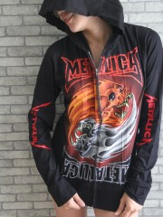 Metallica Metal Punk Rock DIY Slim Fit Hoodie Top