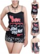The Beatles Hard Rock DIY Victorian Lace Corset Top With Chain Strap