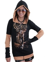 Opeth Metal Punk Rock DIY Funky Hoodie Zip Up Jacket Top
