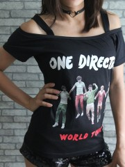 One Direction Pop Dance  DIY Sexy Tee Tank Top Shirt