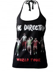 One Direction 1D Rock DIY Sexy Halter Tank Top Shirt