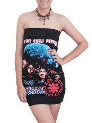 Red Hot Chili Peppers Metal Rock DIY Sexy Strapless Tube Tank Top/Tunic Shirt