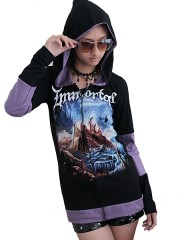 Immortal Metal Rock DIY Funky Zip Hoodie Jacket Top Shirt