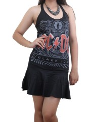 AC/DC Hard Metal Rock DIY Halter Dress Top