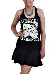 Avenged Sevenfold Metal Rock DIY Halter Dress Top