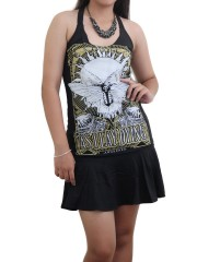 As I Lay Dying Melodic Death Metal DIY Halter Dress Top