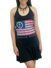 Marilyn Manson MM Metal Rock  DIY Halter Dress Top