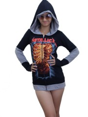 Metallica Metal Rock DIY Funky Hoodie Zipper Jacket Top Shirt