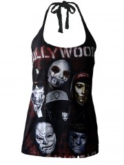 Hollywood Undead DIY Sexy Halter Tank Top Shirt