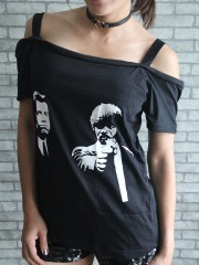 Pulp Fiction Movie DIY Sexy Tee Tank Top Shirt