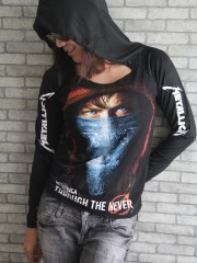 Metallica Metal Rock DIY Light-Weight Hoodie Jacket Top Shirt