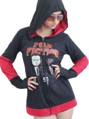 Pulp Fiction Movie Rock DIY Funky Hoodie Zip Up Jacket Top