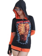 Metallica Metal Rock DIY Funky Hoodie Zip Up Jacket Top