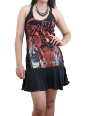 Death Metal Rock DIY SEXY HALTER MINI DRESS