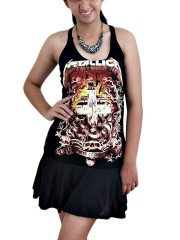 Metallica Metal Rock DIY SEXY HALTER MINI DRESS
