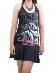 Mitch Lucker Suicide Silence Metal Rock DIY Sexy Halter Mini Dress