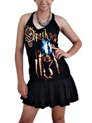 Opeth Goth Metal Rock DIY SEXY HALTER MINI DRESS