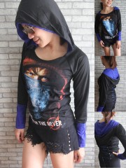 Metallica Metal Rock DIY Funky Corset Hoodie Top Shirt
