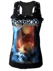 Rhapsody On Fire Metal Rock DIY Racerback Tank Top Shirt