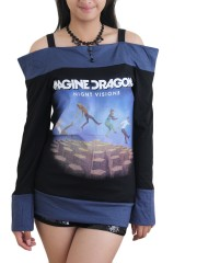 Imagine dragons Metal Rock DIY Funky Boat Neck Top Shirt