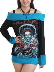 Of Mice & Man Metal Rock DIY Funky Boat Neck Top Shirt