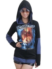 Rhapsody On Fire Metal Rock DIY Funky Zip Hoodie Jacket Top Shirt