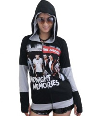 One Direction Pop Dance DIY Funky Zip Hoodie Jacket Top Shirt