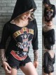 Guns N' Roses Hard Rock  DIY Funky Corset Hoodie Top Shirt
