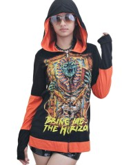 Bring Me The Horizon Metal Rock DIY Funky Zip Hoodie Jacket Top Shirt
