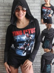 Dying Fetus Death Metal DIY Funky Corset Hoodie Top Shirt