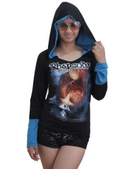 Rhapsody On Fire Metal Rock DIY Funky Corset Hoodie Top Shirt