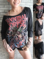 Cannibal Corpse Death Metal Rock DIY Funky Corset Hoodie Top Shirt