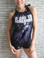A Day To Remember Metal Punk Rock DIY Tie Neck Sleeveless TankTop