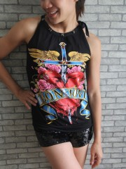 Bon Jovi Metal Rock DIY Tie Neck Sleeveless TankTop
