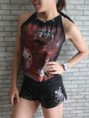 Immolation Metal Punk Rock DIY Tie Neck Sleeveless TankTop