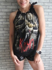 Korn Alternative Metal Rock DIY Tie Neck Sleeveless TankTop
