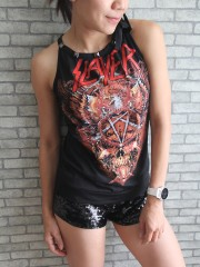 Slayer Metal Punk Rock DIY Tie Neck Sleeveless TankTop