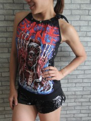 Suicide Silence Metal Rock DIY Tie Neck Sleeveless TankTop