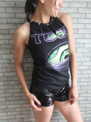 Tool Metal Rock DIY Tie Neck Sleeveless TankTop