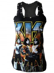Kiss Hard Punk Rock DIY Racerback Tank Top Shirt