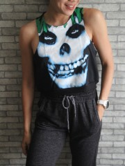 Misfits Horror Punk Metal Rock DIY Sport Belly Jumper Tank Top T-Shirt