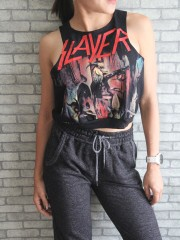 Slayer Metal Punk Rock DIY Sport Belly Jumper Tank Top T-Shirt