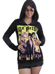 Sex Pistols Punk Rock Rock DIY Funky Hoodie Zip Up Jacket Top