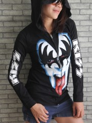Kiss Hard Punk Rock  DIY Slim Fit  Hoodie Jacket